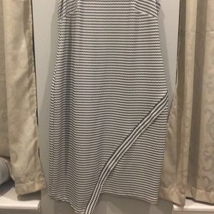 Eloquii Sleeveless Bodycon Dress B/W Stripe